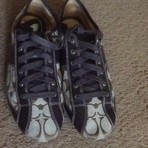 Coach Signature Jacquard Tennis Shoes 8 1/2 B M